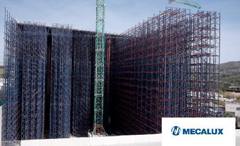 Proceso constructivo del depóstio autoportante automático de Cepsa en Algeciras, Cádiz