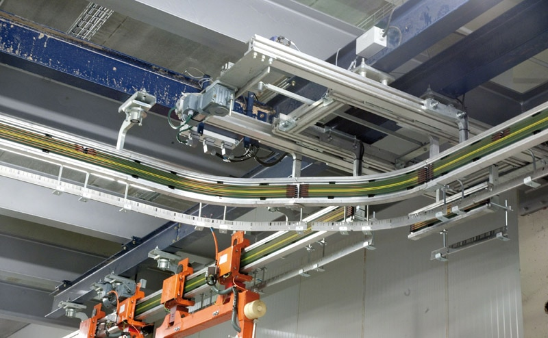 Las electrovías están dirigidas por un software de control conectado con el WMS