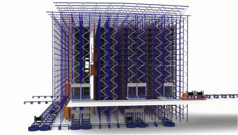 Innovación y tecnología al servicio de la logística de Michelin en su depósito automatizado