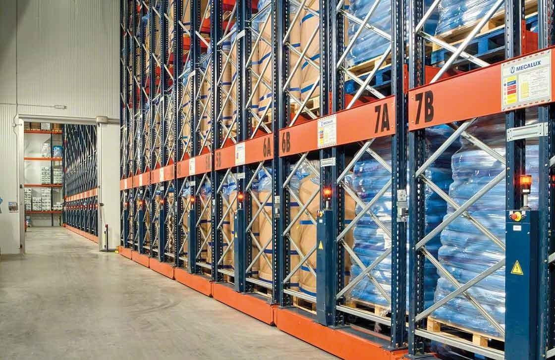 Los racks móviles Movirack han conseguido aumentar la capacidad del depósito frigorífico de Iberfresco