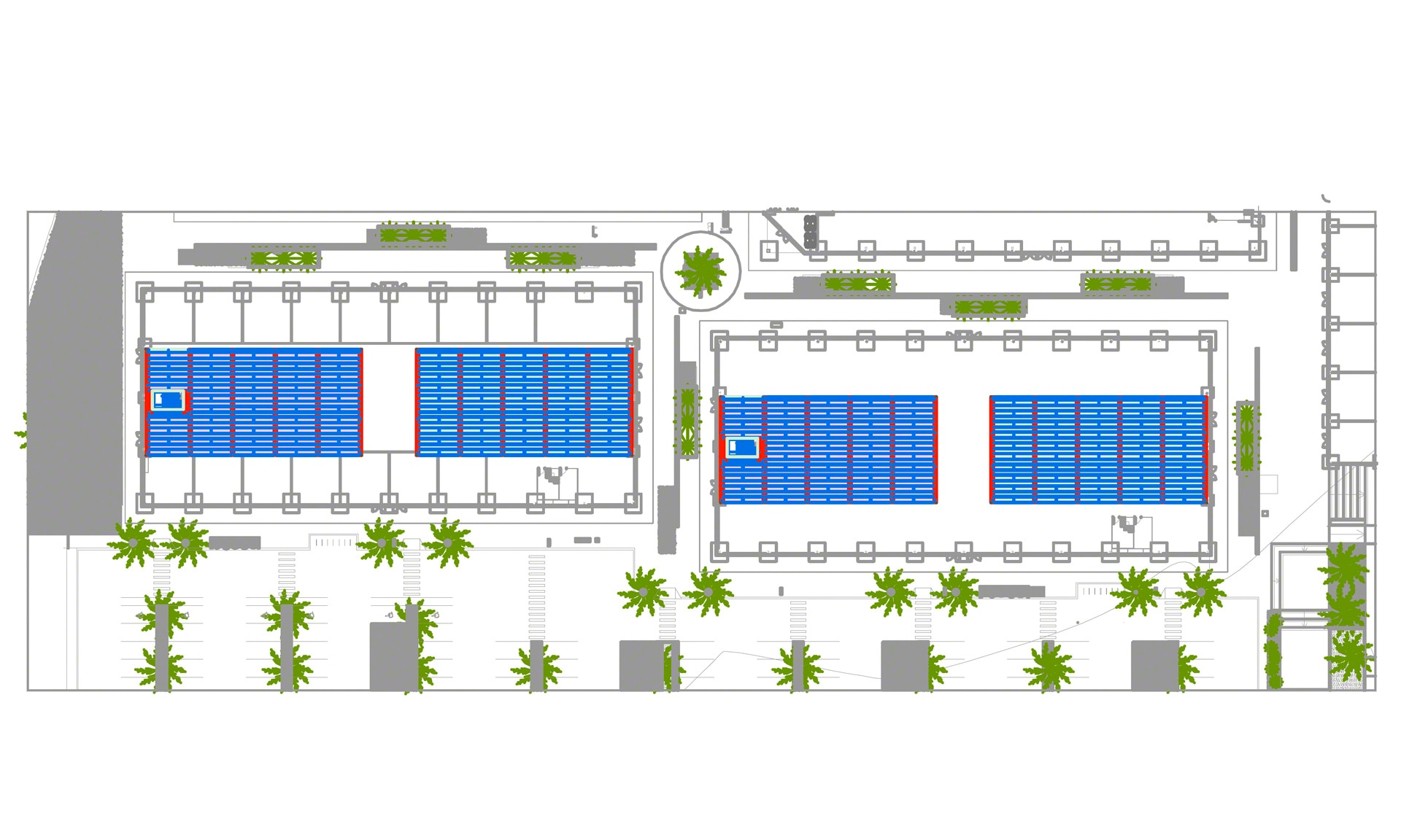 Solución que optimiza la superficie de almacenaje de Almenara Mall