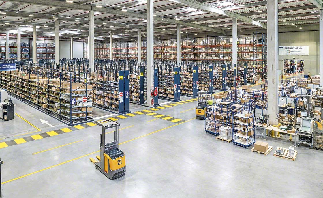 Los depósitos que surten a la logística de producción se sectorizan si cuentan con un inventario muy heterogéneo